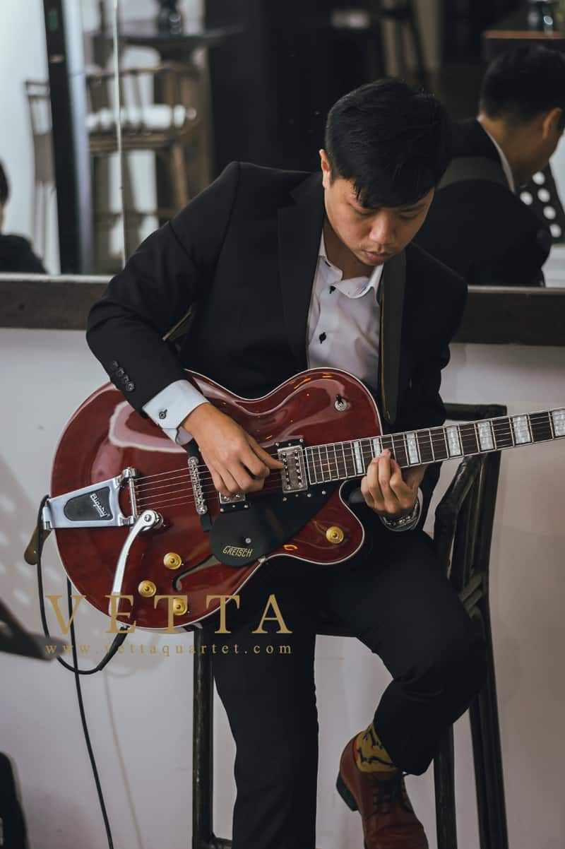 Jazz Guitar and Double Bass Duo for Corporate Event
