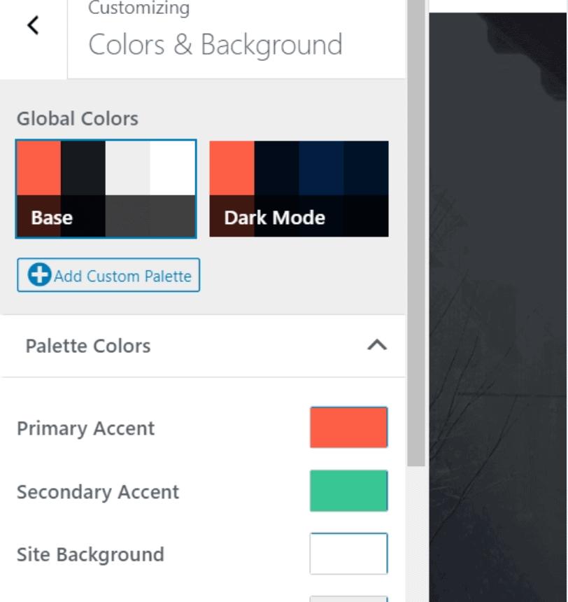 Choose site colors
