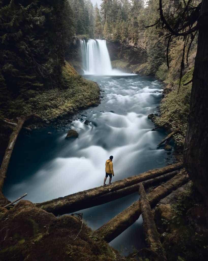 Koosah Falls, Willamette, Oregon.