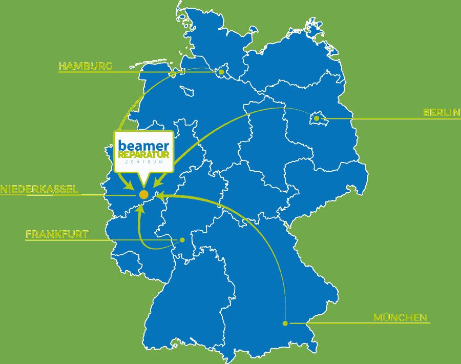 Bild wir bieten unseren Beamer Reparatur Service Deutschlandweit an