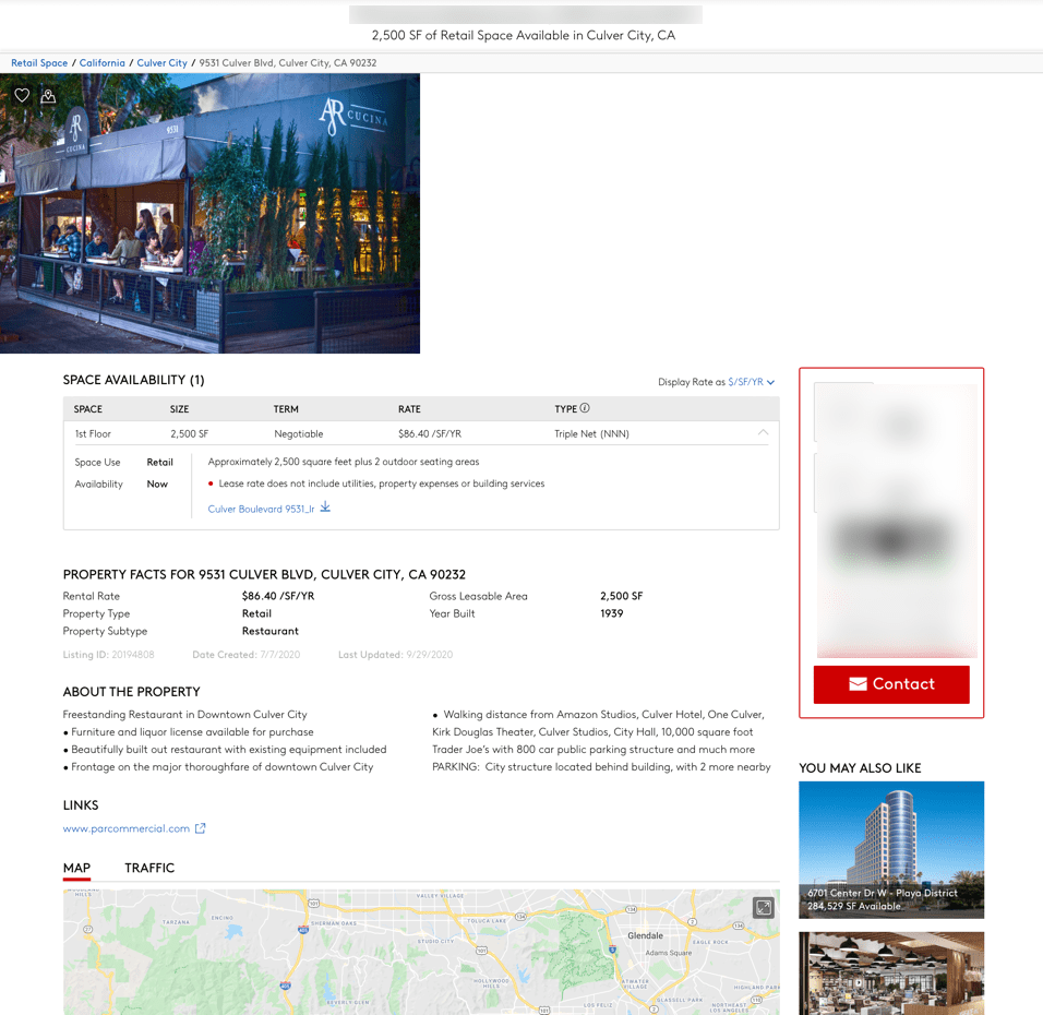 Loopnet detailed search result