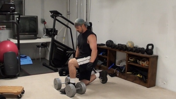In-Set Superset of Dumbell Split Squats with Forward Lean - GREAT Posterior Chain Training