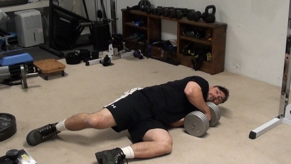 Dumbell Side Rolls - Great Hip and Core Training for MMA and Martial Arts
