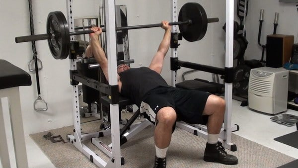 How to do the Floor Barbell Bench Press on a Bench - the Perpendicular Bench Press