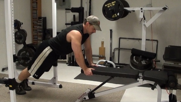 Push-In Bench Push-Ups for a Peak Pec Contraction