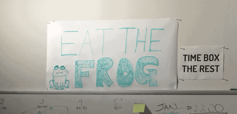 culture change: example of eat the frog as a value