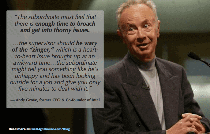 one on one meetings template - andy grove knows time matters