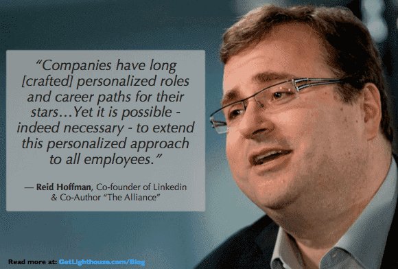 Reid Hoffman knows growing your people is essential and that includes when you promote from within