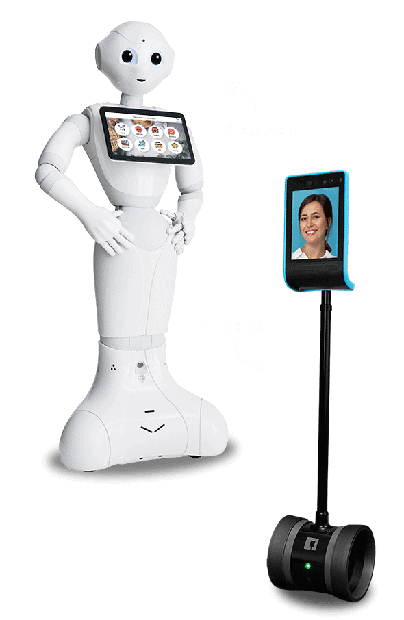 Pepper and Double Robot