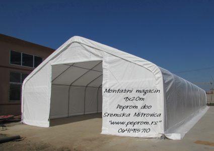 PEA 9X20 montazni magacin industrijski sator peprom.rs
