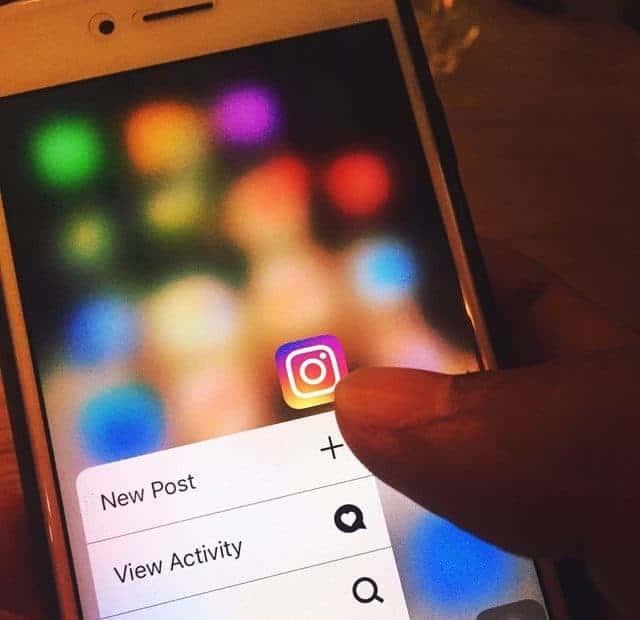 Instagram App on mobile phone