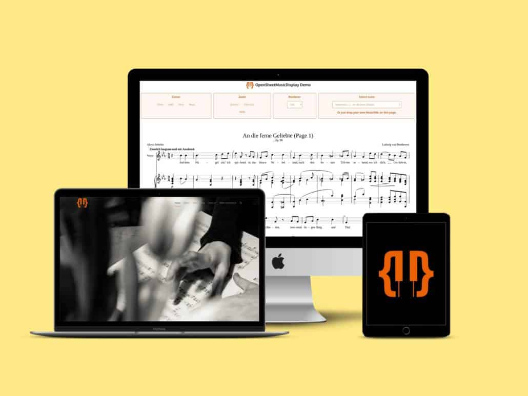 Open Sheet Music Display Software Library