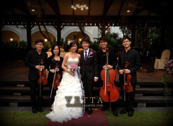 Wedding at The Lawn, Raffles Hotel