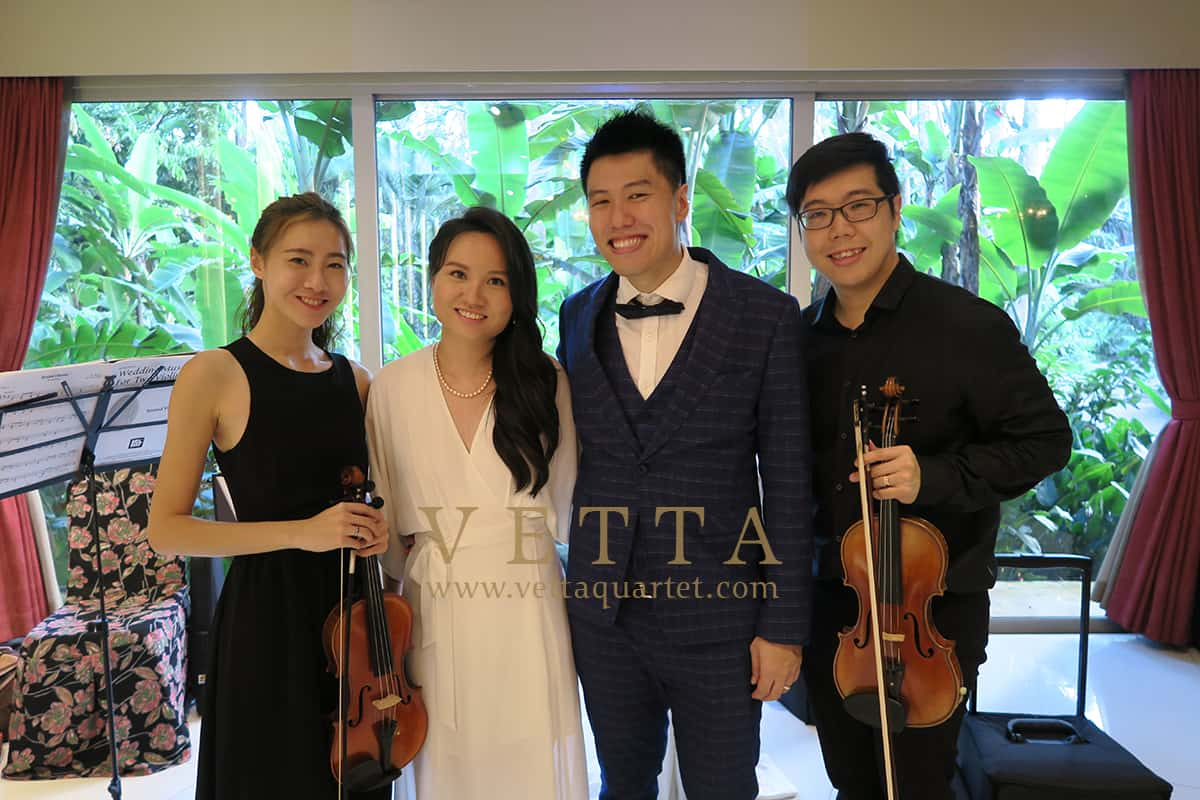 Violin Duo for Liyi and Clement's Wedding at Botanic Gardens