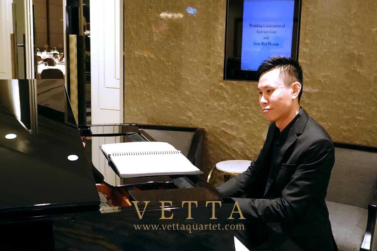String Quartet and Jazz Piano for Shyuan and Gerrard's Wedding at Shangri-La Hotel
