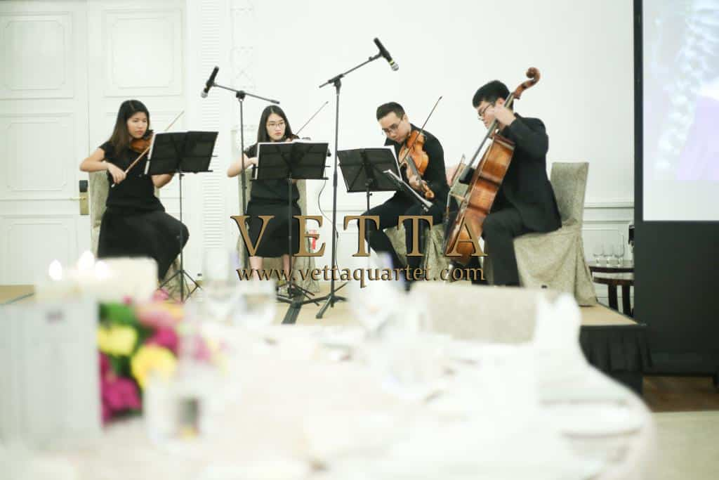 String Quartet for Corporate Event at Fullerton Hotel, Straits Room