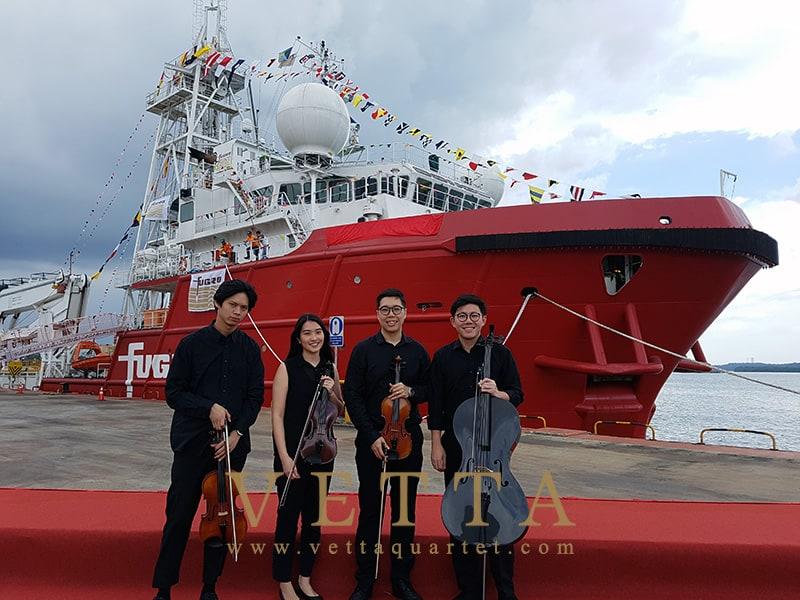 String Quartet for Naming Ceremony of Fugro Mariner at Loyang Offshore Supply Base