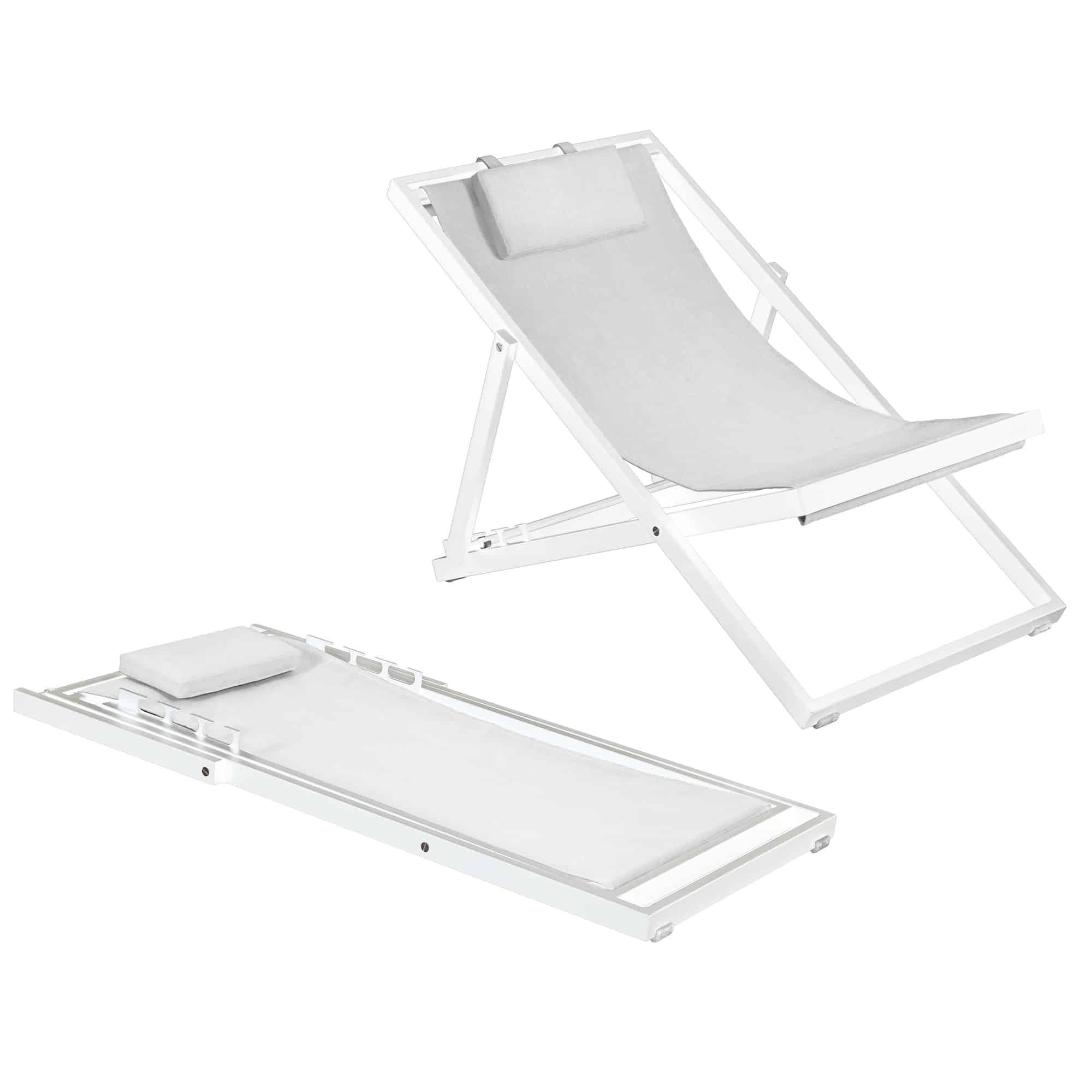Newport Lounger White