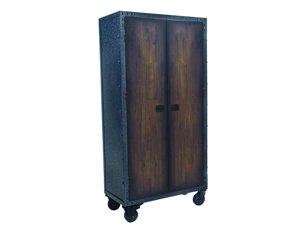 Industrial Free Standing Cabinet with Wheels