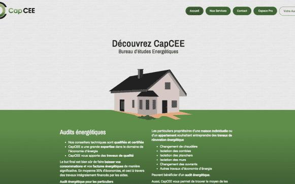 Capture d'écran du site internet CapCEE