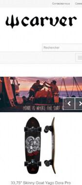 Capture d'écran du site internet Carver Mobile