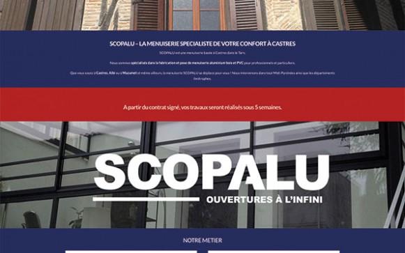Capture d'écran du site internet Scopalu