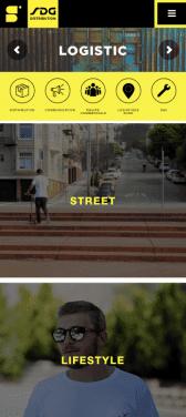 Capture d'écran du site internet mobile SDG Distribution