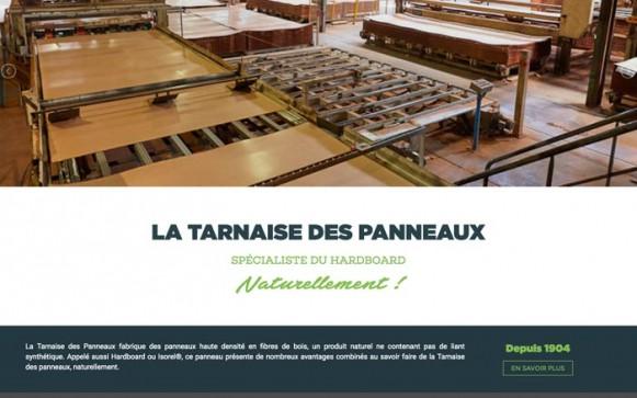 Capture d'écran du site internet La Tarnaise Des Panneaux