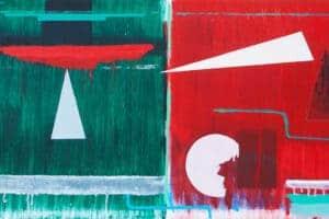 Zohdy Qadry, Non-Subject #3, 2015, acrylic on canvas, 33 x 67 cm