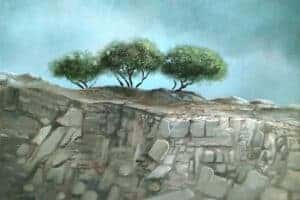 Durar Bacri, Golan Heights #2, 2020, oil on canvas, 40 x 50 cm