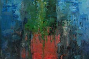 Osama Said, Untitled, 2020, oil on canvas, 100 x 100 cm