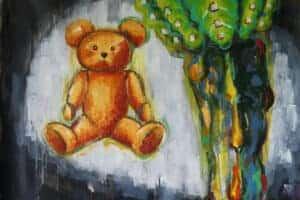 Mohamed Abusal, Nostalgia, 2012, acrylic on canvas, 123 x 80 cm