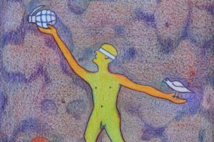 Sager Al Qatil, Untitled #14, 1999, mixed media on paper, 30 x 22 cm