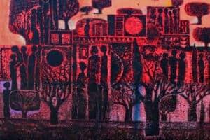 Nabil Anani, A Sentimental Place (2011), acrylic on canvas, 120 x 150 cm