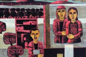 Nabil Anani, My Mother and Father (2012), acrylic on canvas, 104 x 120 cm