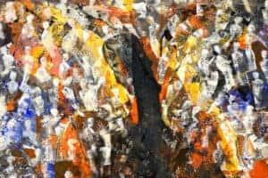 Tayseer Barakat, Shoreless Sea #20, 2019, acrylic on canvas, 50 x 70 cm