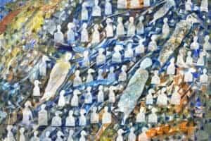 Tayseer Barakat, Shoreless Sea #38, 2019, acrylic on canvas, 60 x 75 cm