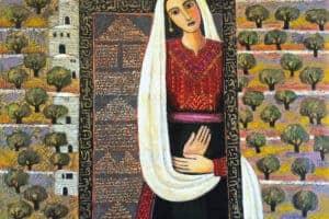 Nabil Anani, Vision (2013), acrylic on canvas, 107 x 120 cm