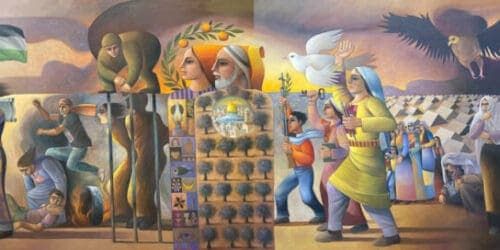 Exhibition on Resilience, Sliman Mansour