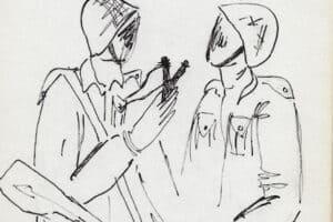 Fayez Sirsawi, Untitled (1989), ink on paper, 23.5 x 16 cm