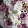 Свадебный букет с лавандовыми розами №992 - Фото 4
