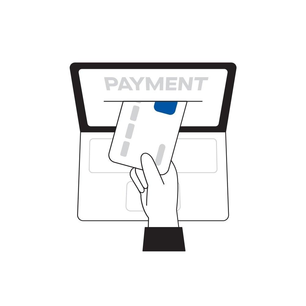 Pagamenti con carta di credito o debito, direttamente dal tuo sito web. Pagamenti con gateway in linea con la normativa PSD2 SCA.