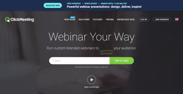 ClickMeeting Webinar Hosting Website