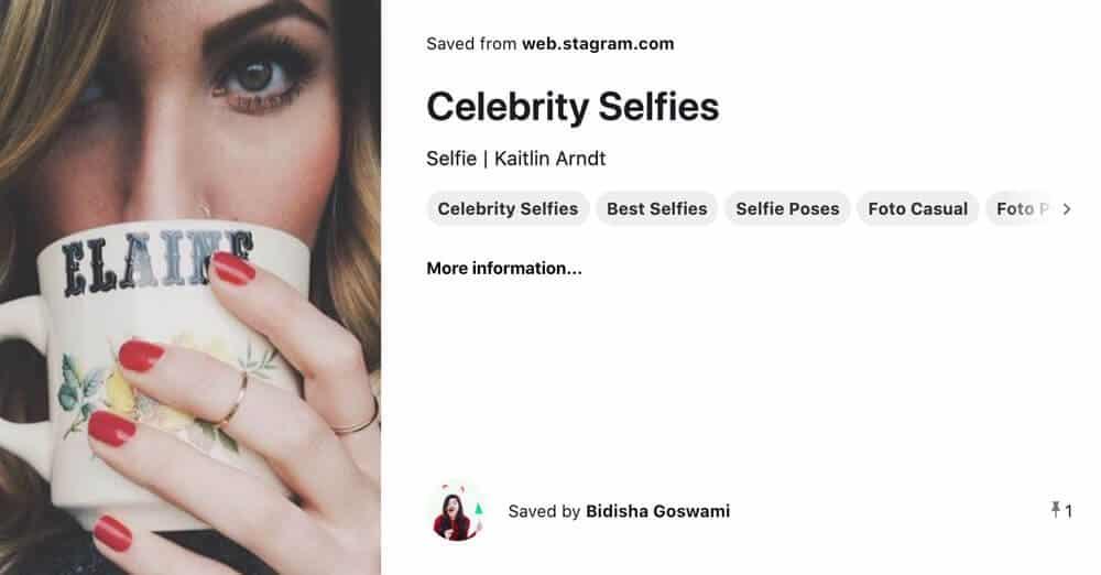 celebrity selfies from Pinterest