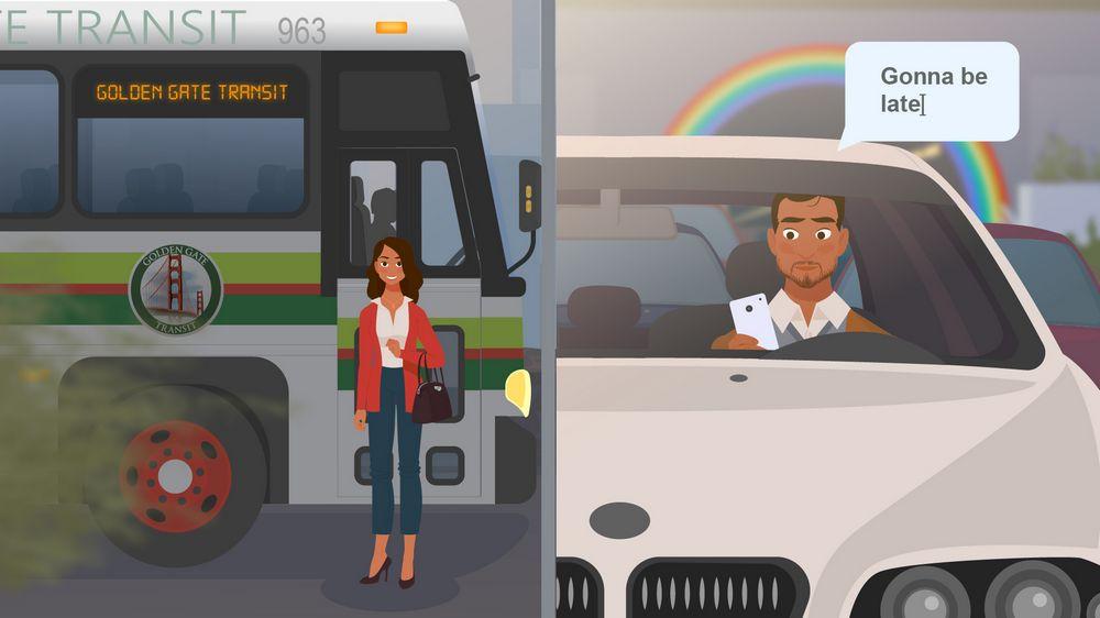 Public transport / own car