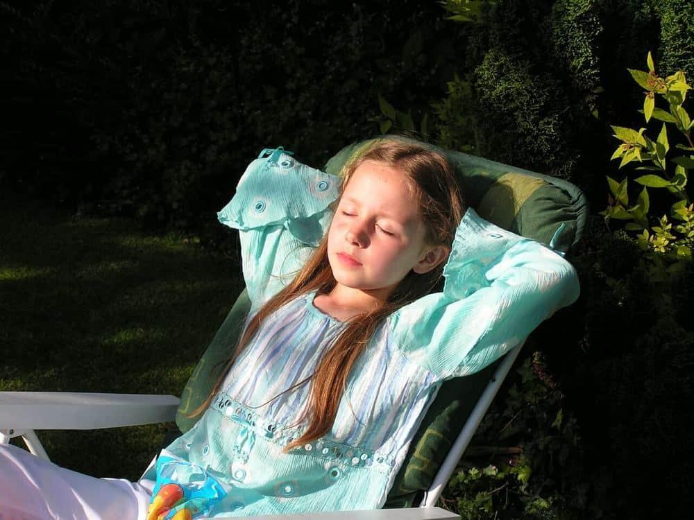 Napping girl