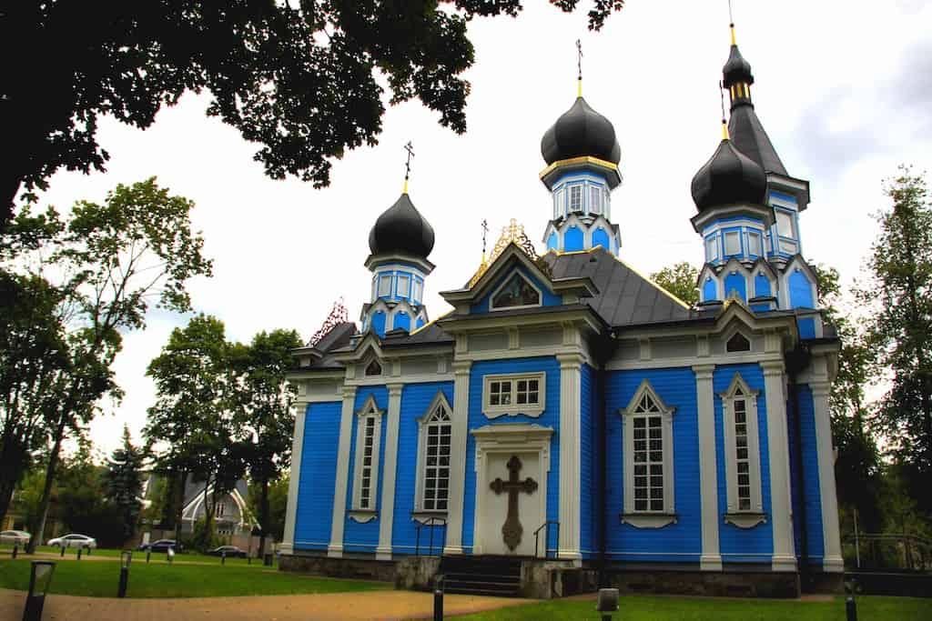 blue orthodox church