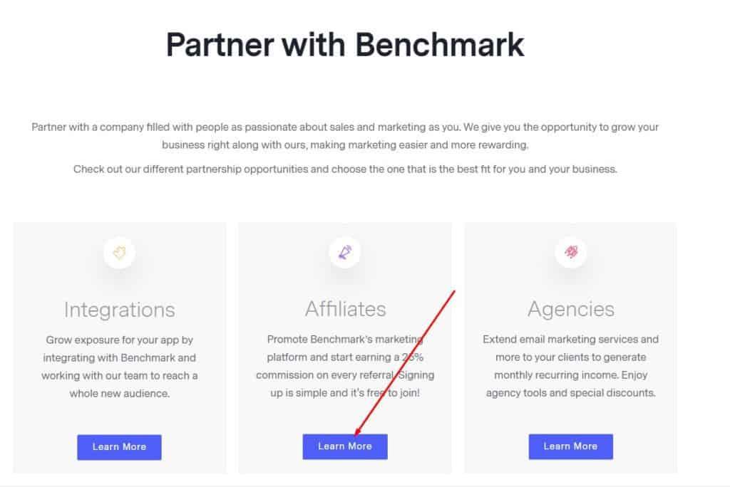 benchmark affiliate program review