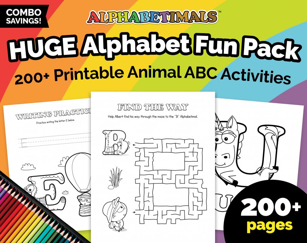 Alphabetimals HUGE Alphabet Fun Pack - Printables