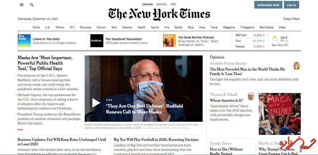 سایت معروف وردپرسی نیویورک تایمز